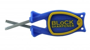 The Block Sharpener 2.0 blauw - geel - Messenslijper