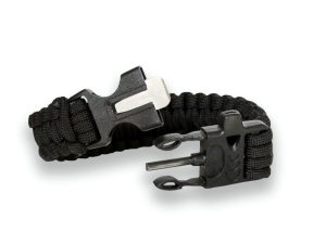 JKR Camo Survival Paracord Bracelet With Fire Starter And Whistle